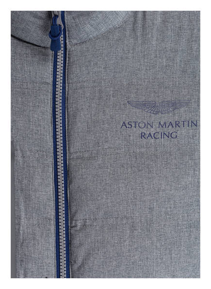 HACKETT LONDON Sweatjacke im Materialmix aus der ASTON MARTIN RACING-Kollektion