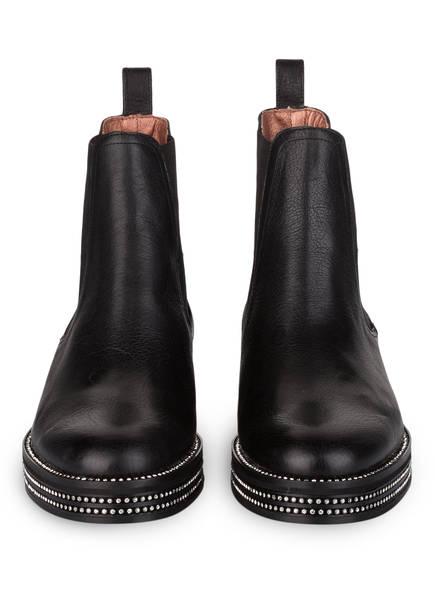 ras Chelsea-Boots mit Strasssteinbesatz