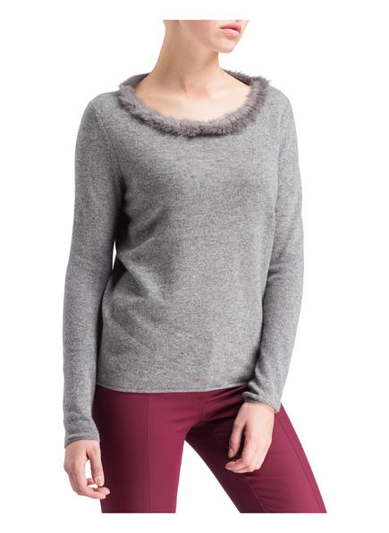 Princess GOES HOLLYWOOD Cashmere-Pullover mit Pelzbesatz