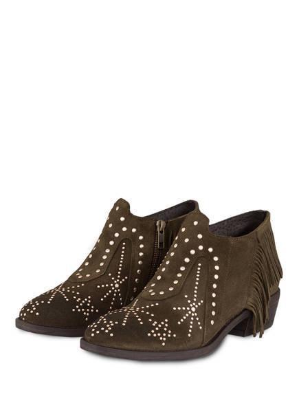 MÉLINÉ Cowboy Boots mit Nietenbesatz, Farbe: OLIV (Bild 1)