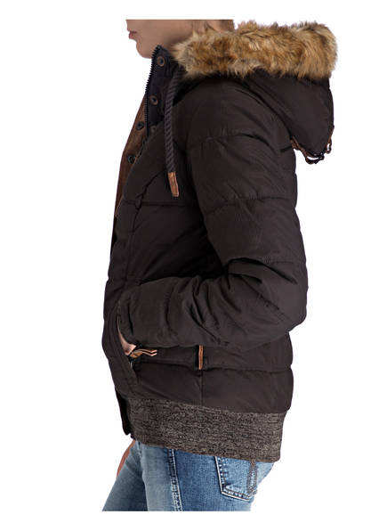 naketano Steppjacke mit Besatz in Felloptik