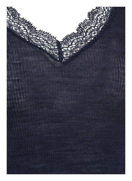 HANRO Shirt WOOLEN LACE<br>         mit Seidenanteil