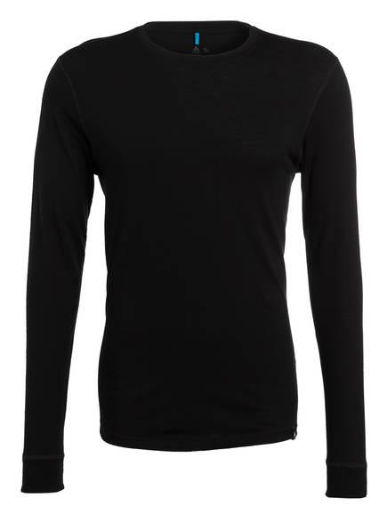 odlo Funktionswäsche-Shirt NATURAL WARM aus Merinowolle , Farbe: SCHWARZ (Bild 1)