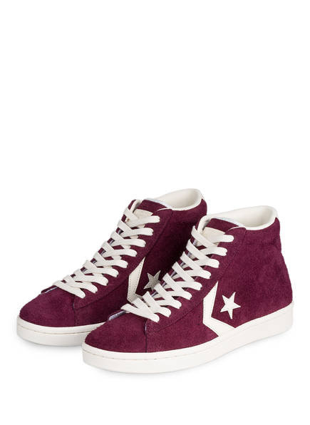 CONVERSE Hightop-Sneaker PRO LEATHER 76 MID, Farbe: BEERE (Bild 1)