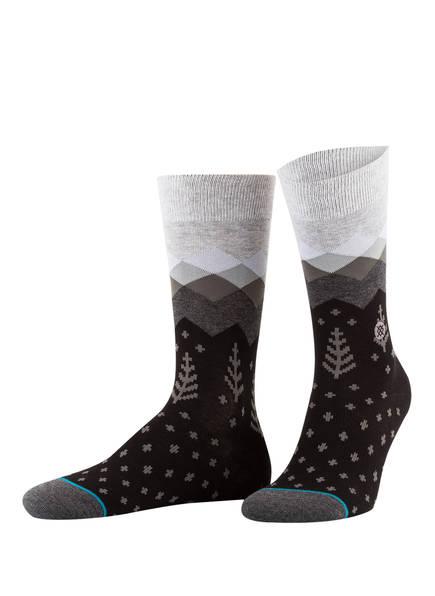 STANCE Socken VALLEYS, Farbe: SCHWARZ/ GRÜN (Bild 1)