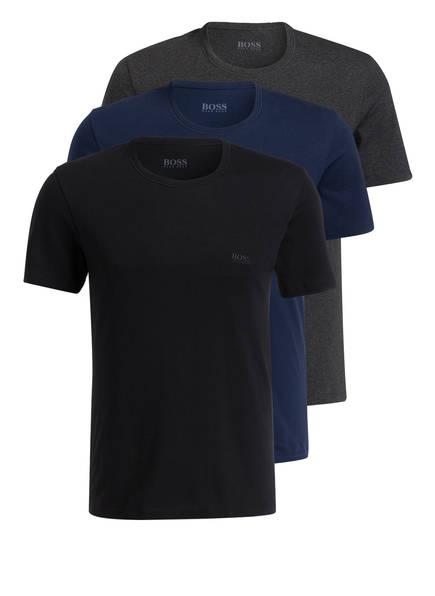 BOSS 3er-Pack T-Shirts, Farbe: SCHWARZ/ BLAU/ GRAU (Bild 1)