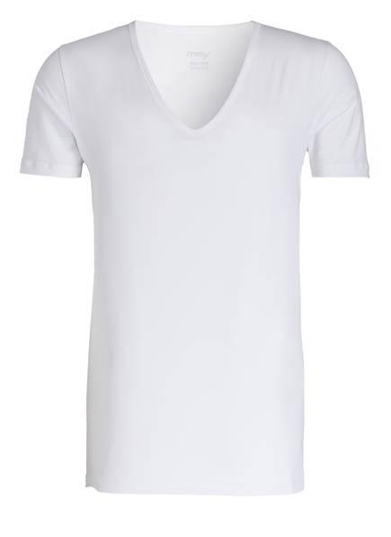 mey V-Shirt DRY COTTON Slim Fit, Farbe: WEISS (Bild 1)