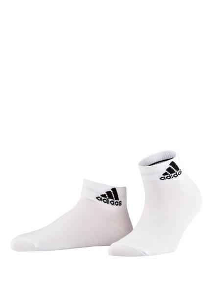 adidas 3er-Pack Sneaker-Socken PER ANKLE, Farbe: WEISS (Bild 1)