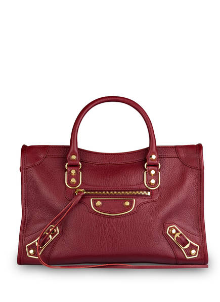 BALENCIAGA Handtasche CLASSIC CITY S, Farbe: BORDEAUX (Bild 1)