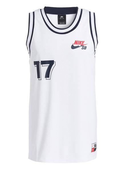 Nike Tanktop SB, Farbe: WEISS/ ROT (Bild 1)