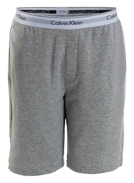 Calvin Klein Lounge-Sweatshorts, Farbe: GRAU MELIERT (Bild 1)