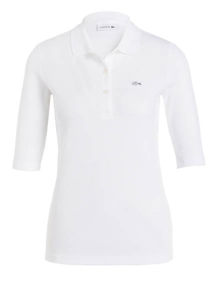 LACOSTE Piqué-Poloshirt mit 3/4-Arm, Farbe: WEISS (Bild 1)