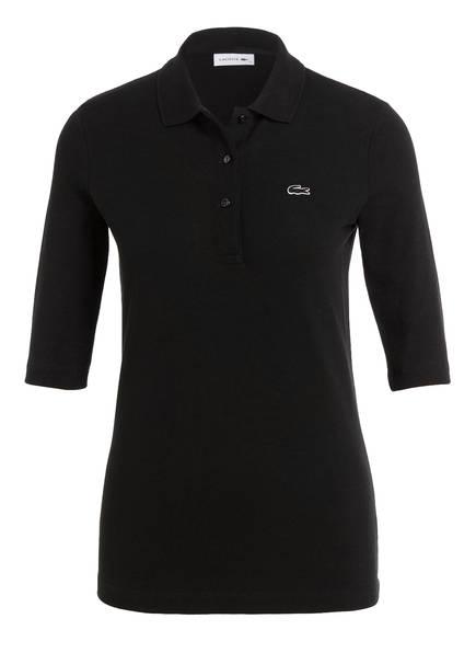 LACOSTE Piqué-Poloshirt mit 3/4-Arm, Farbe: SCHWARZ (Bild 1)