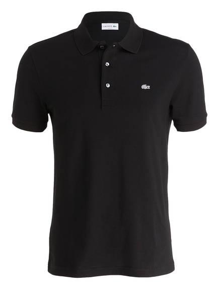 Lacoste Stretch-Poloshirt Slim Fit schwarz