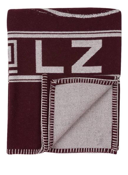 zoeppritz Plaid MICKEY, Farbe: BORDEAUX/ GRAU (Bild 1)