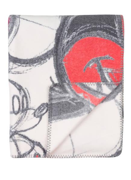 zoeppritz Plaid MICKEY SOFT CAMOUFLAGE, Farbe: ROT/ GRAU (Bild 1)