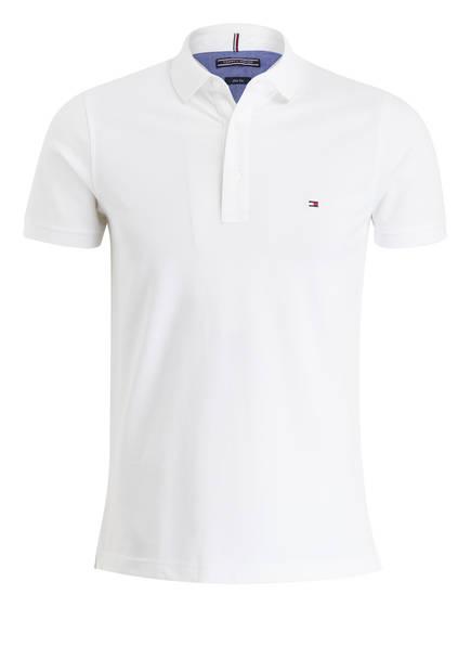 TOMMY HILFIGER Piqué-Poloshirt Slim Fit, Farbe: WEISS (Bild 1)