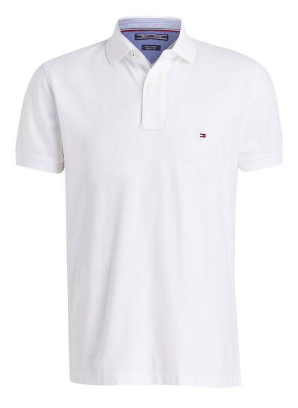 TOMMY HILFIGER Piqué-Poloshirt Regular Fit, Farbe: WEISS (Bild 1)