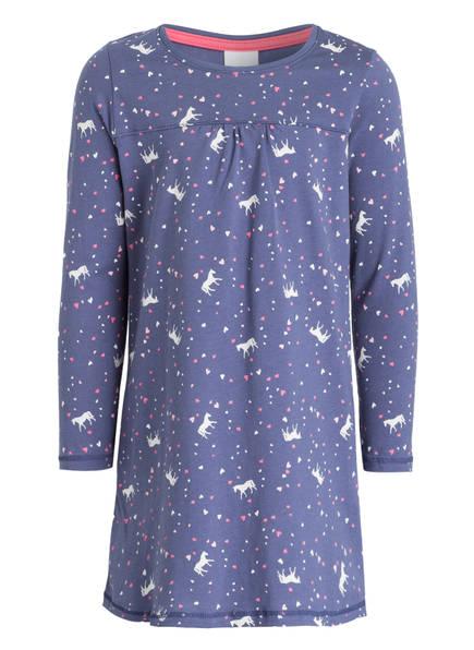 Sanetta Nachthemd, Farbe: BLAU/ WEISS/ PINK (Bild 1)