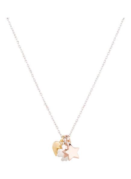 ORELIA Kette STAR HEART CLUSTER, Farbe: SILBER (Bild 1)