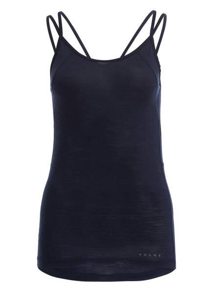 Falke Funktionswäsche-Shirt Silk-Wool Aus Merinowolle/Seide-Gemisch blau