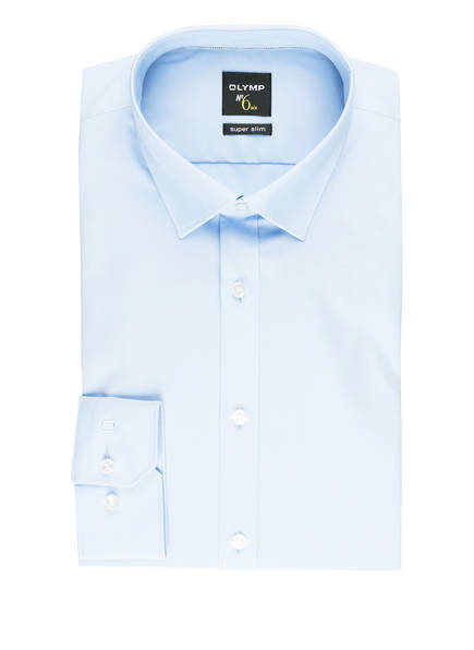 OLYMP Hemd No. Six super slim, Farbe: HELLBLAU (Bild 1)