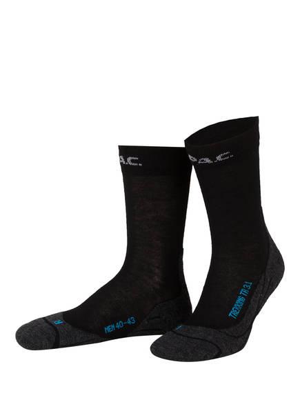 P.A.C. Trekking-Socken TR 3.1 LIGHT, Farbe: 200 BLACK (Bild 1)