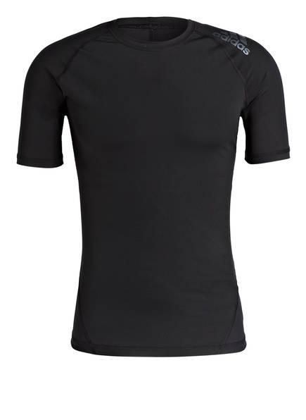 Adidas Alphaskin Herren T-Shirt Sport Funktionsshirt Schwarz Neu Fitness