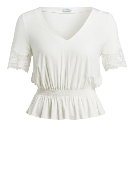 LA PERLA Lounge-Shirt LAPIS LACE, Farbe: WEISS (Bild 1)