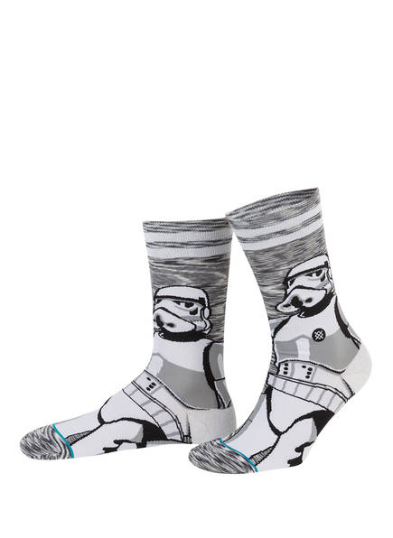 STANCE Socken EMPIRE, Farbe: WEISS/ GRAU  (Bild 1)