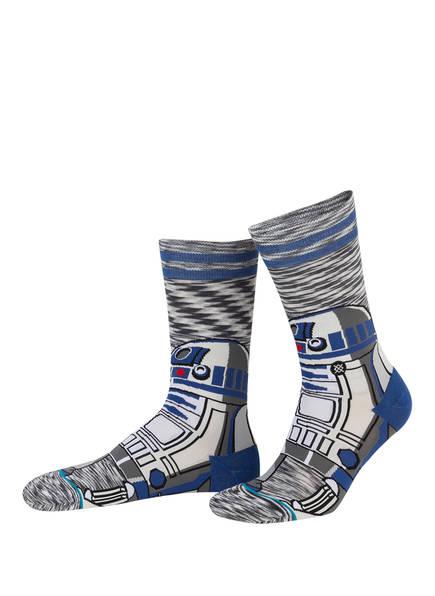 STANCE Socken R2, Farbe: WEISS/ GRAU/ BLAU  (Bild 1)