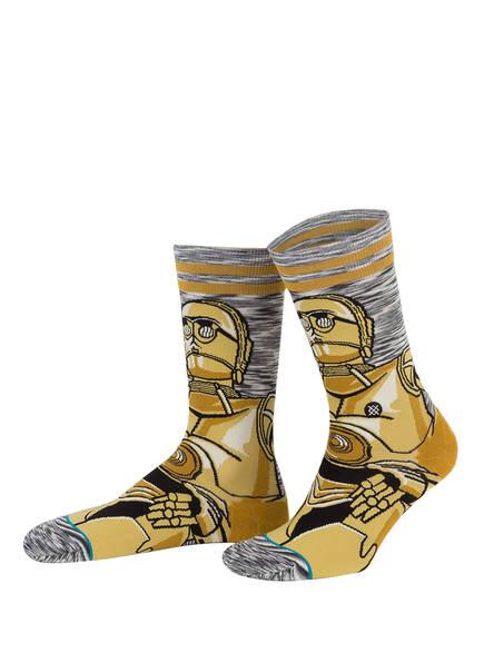 STANCE Socken ANDROID, Farbe: WEISS/ GRAU/ OCKER (Bild 1)