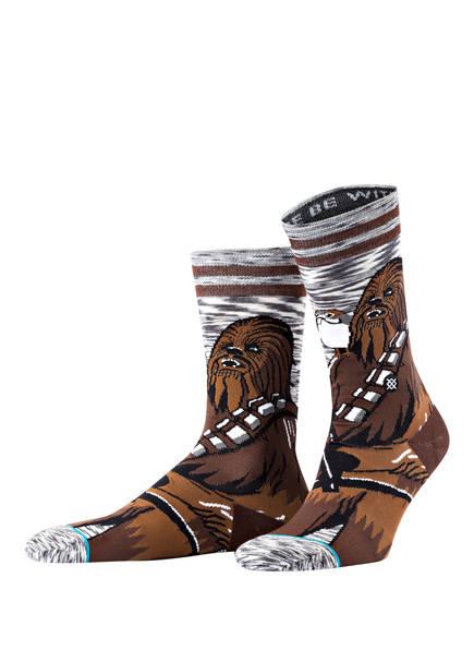 STANCE Socken CHEWIE PAL, Farbe: DUNKELBRAUN/ BRAUN/ GRAU (Bild 1)