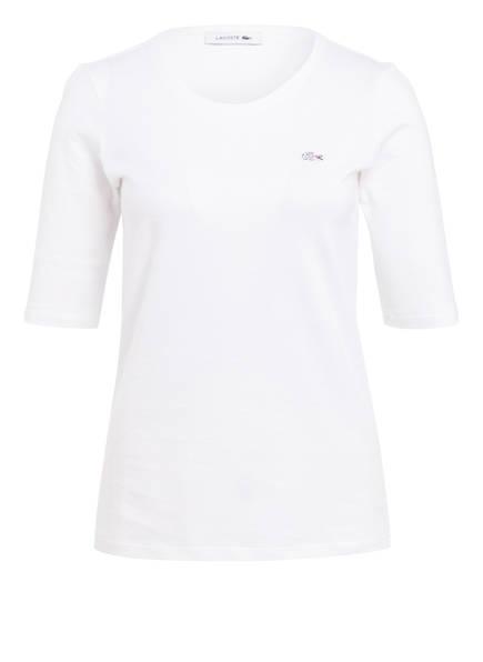 LACOSTE T-Shirt mit 3/4-Arm, Farbe: WEISS (Bild 1)