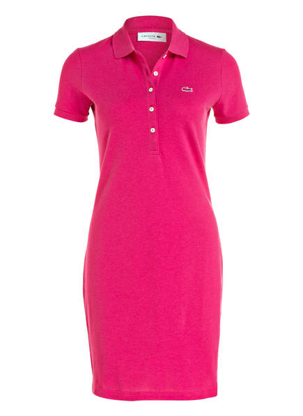 Lacoste polokleid pink