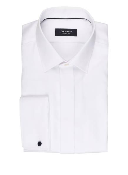 OLYMP SIGNATURE Smoking-Hemd tailored fit mit Umschlagmanschette, Farbe: WEISS (Bild 1)