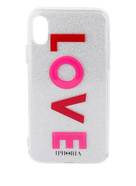 IPHORIA Smartphone-Hülle LOVE, Farbe: PINK/ SILBER (Bild 1)