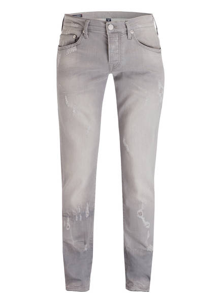 TRUE RELIGION Destroyed-Jeans NEW ROCCO Relaxed Skinny Fit, Farbe: 1423 LIGHT GREY (Bild 1)