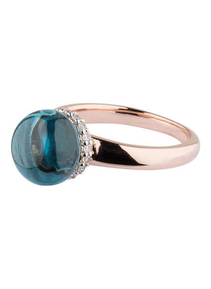 Bronzallure Ring PREZIOSA, Farbe: ROSÉGOLD/ AQUAMARIN (Bild 1)