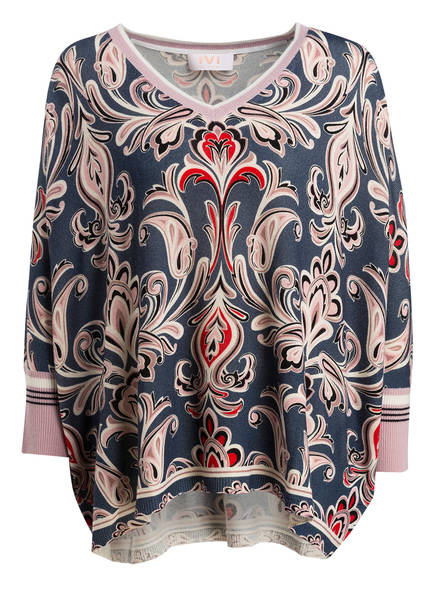 IVI collection Oversized-Pullover ORNA PAISLEY, Farbe: BLAU/ ROSA/ ROT (Bild 1)