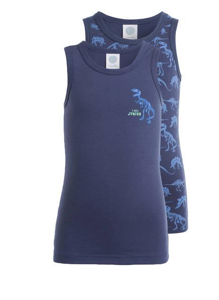 Sanetta 2er-Pack Unterhemden, Farbe: NAVY/ HELLBLAU  (Bild 1)