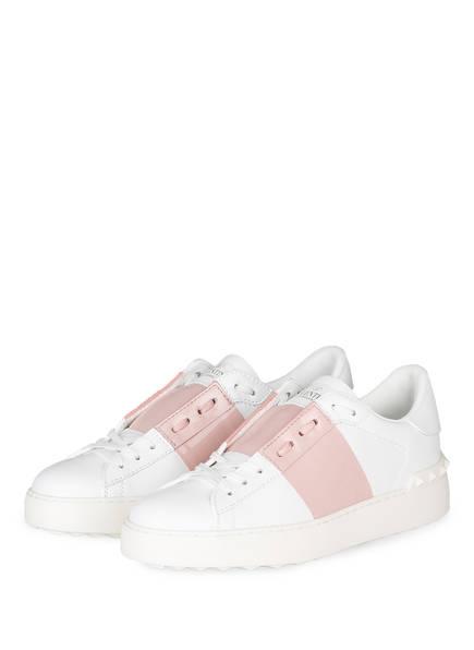 VALENTINO GARAVANI Sneaker OPEN, Farbe: WEISS/ HELLROSA (Bild 1)