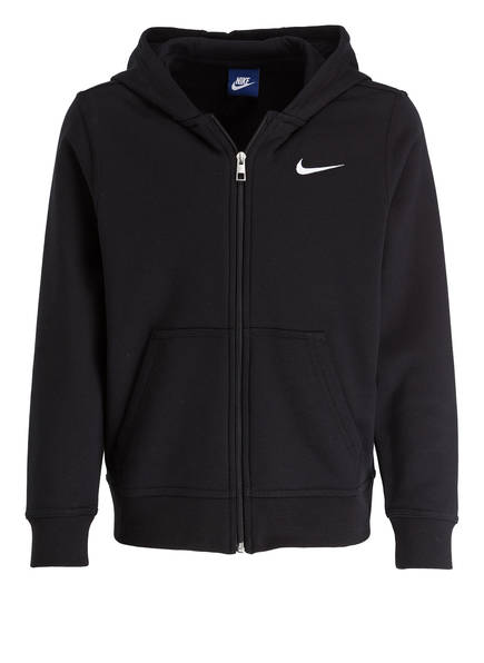 Nike Hoodie BRUSHED FLEECE, Farbe: SCHWARZ (Bild 1)