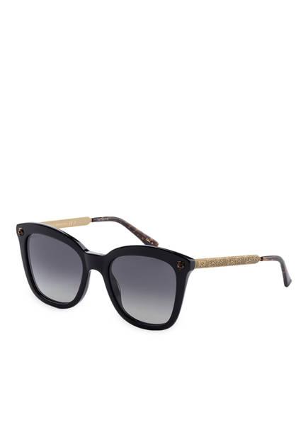 gucci sonnenbrille gg0217s farbe 006 schwarz grau verlauf bild 1