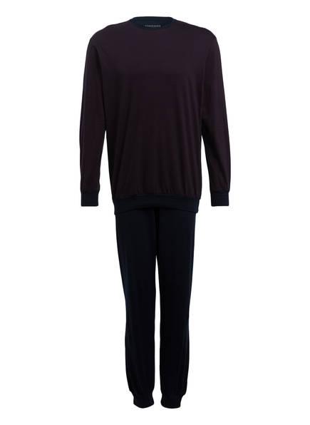 SCHIESSER Schlafanzug, Farbe: DUNKELBLAU/ DUNKELROT (Bild 1)