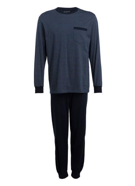 SCHIESSER Schlafanzug , Farbe: DUNKELBLAU/ BLAU (Bild 1)