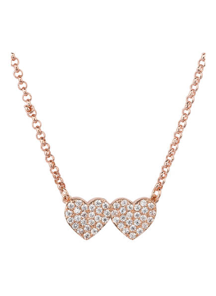 kate spade new york Kette YOURS TRULY PAVE HEART, Farbe: ROSÉGOLD (Bild 1)