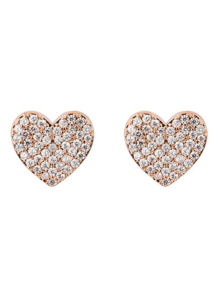 kate spade new york Ohrstecker YOURS TRULY PAVE HEART, Farbe: ROSÉGOLD (Bild 1)