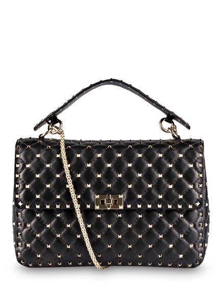 VALENTINO GARAVANI Handtasche ROCKSTUD SPIKE LARGE, Farbe: SCHWARZ (Bild 1)