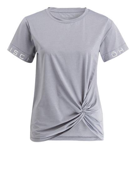 RÖHNISCH T-Shirt mit Knoten-Detail, Farbe: GRAU MELIERT  (Bild 1)